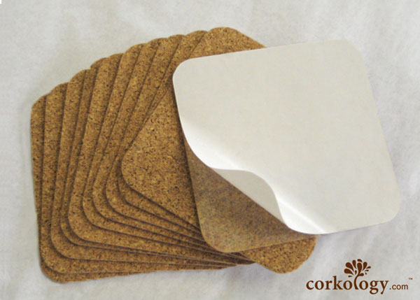"25 pc. 1/16"" x 3-3/4""x3-3/4"" Square Cork backing with adhesive."