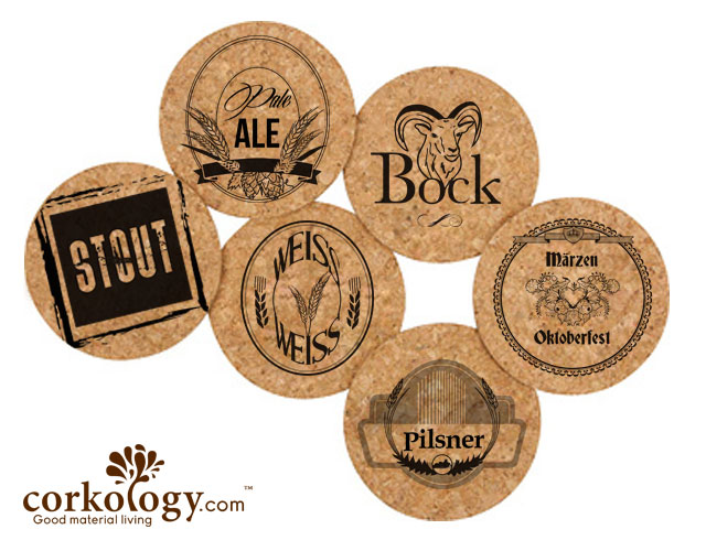 Beer Cork Coaster Set -Free Shipping!