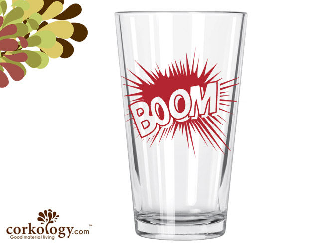 Boom Pint Glass