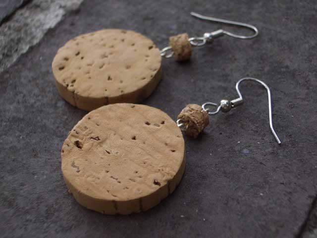The Bubbly Champagne Cork Earrings
