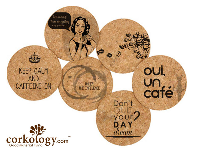 Coffee Cork Coaster Sets -Free Shipping!