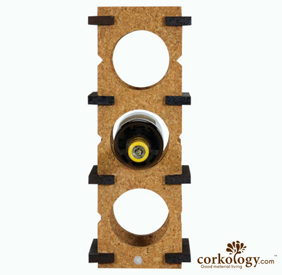 Cork 6 Bottle Wine Rack-Combo Color(light on dark)