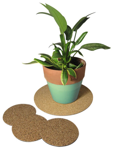 "10"" dia. Cork Plant Mat - 3 in pack - Free shipping"