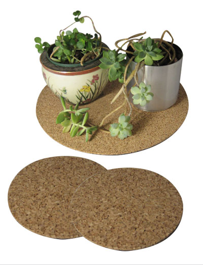 "13"" dia. Cork Plant Mat - 2 in pack - Free shipping"