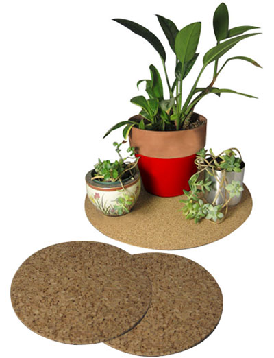 "14"" dia. Cork Plant Mat - 2 in pack - Free shipping"