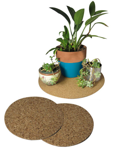 "15"" dia. Cork Plant Mat - 2 in pack - Free shipping - Click Image to Close"