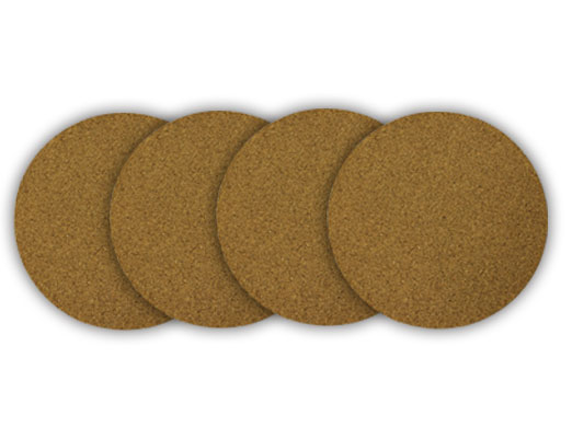 "4"" dia. Cork Plant Mat - 4 in pack - Free shipping"