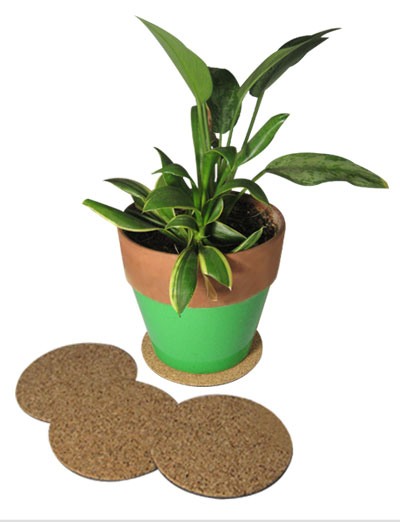 "6"" dia. Cork Plant Mat - 4 in pack - Free shipping"