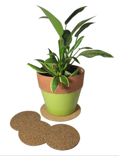 "7"" dia. Cork Plant Mat - 4 in pack - Free shipping"