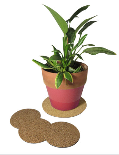 "8"" dia. Cork Plant Mat - 4 in pack - Free shipping"