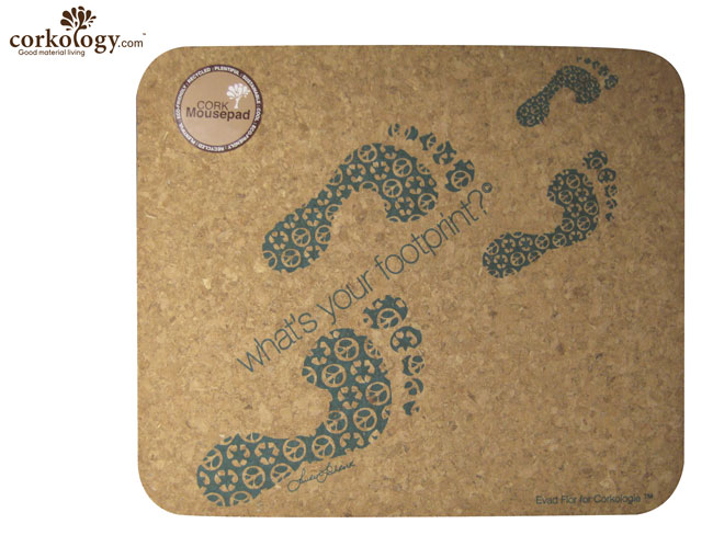 Cork Mouse Pad What's Your Footprint? Rectangle