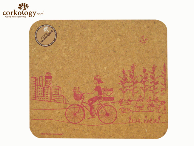 Cork Mouse Pad Live Local Rectangle