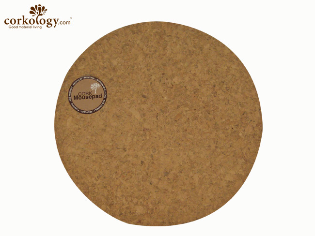 Cork Mouse Pad - Round - Click Image to Close