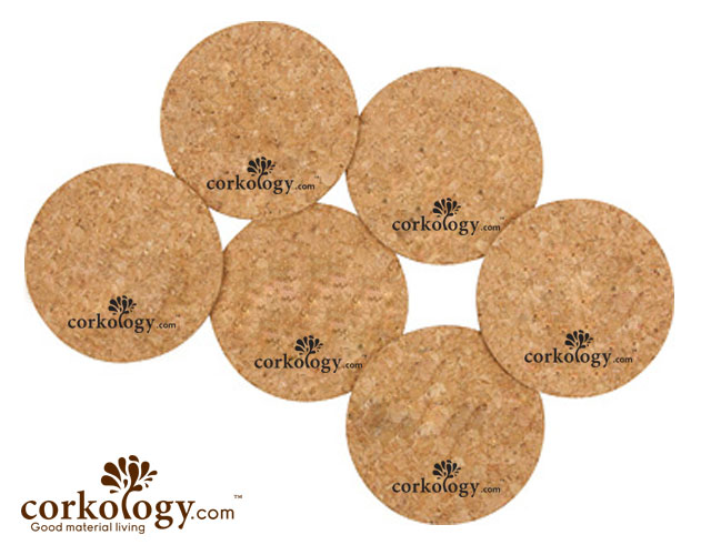 Damask Cork Coaster Set - Free shipping