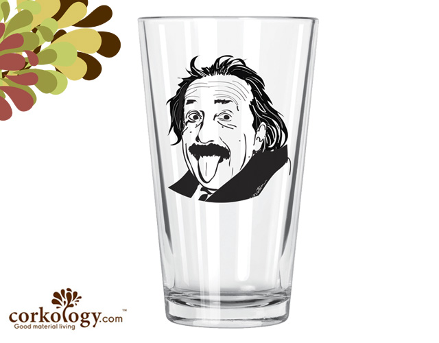 Einstein Pint Glass