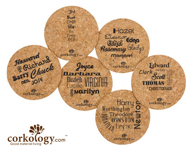 Glasses Cork Coaster Set-Free Shipping!