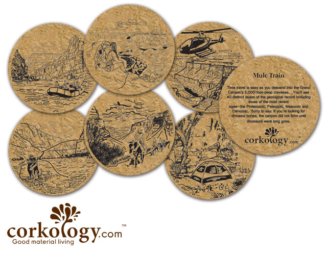 Grand Canyon Cork Coaster Set - Free Shipping!