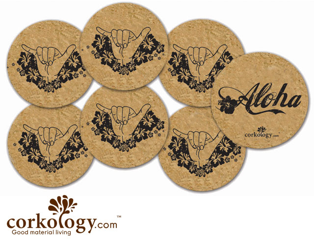 Aloha Shakra Cork Coaster Set - Free Shipping!