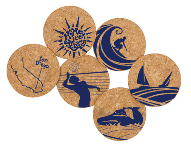 Home Sweet Earth Cork Coaster Set -Free Shipping!