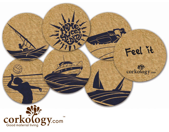 San Diego, CA Cork Coaster Set - Free Shipping!