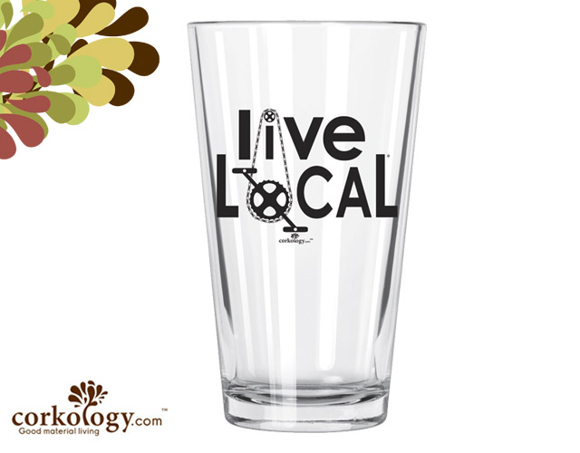 Live Local Pint Glass