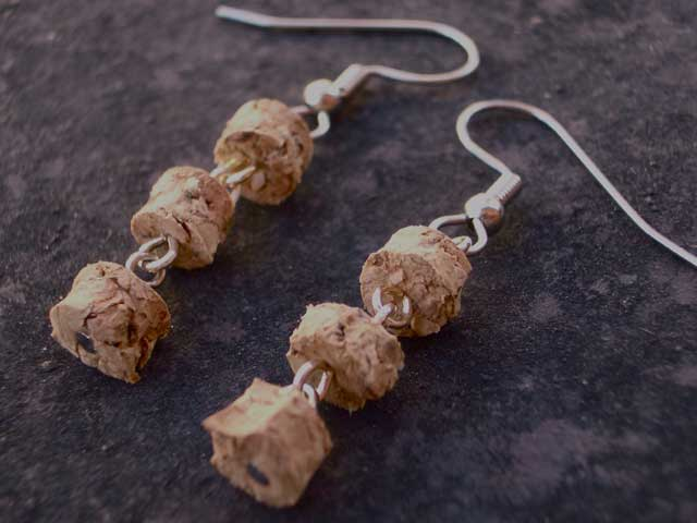 Mini Merlot Wine Cork Earrings