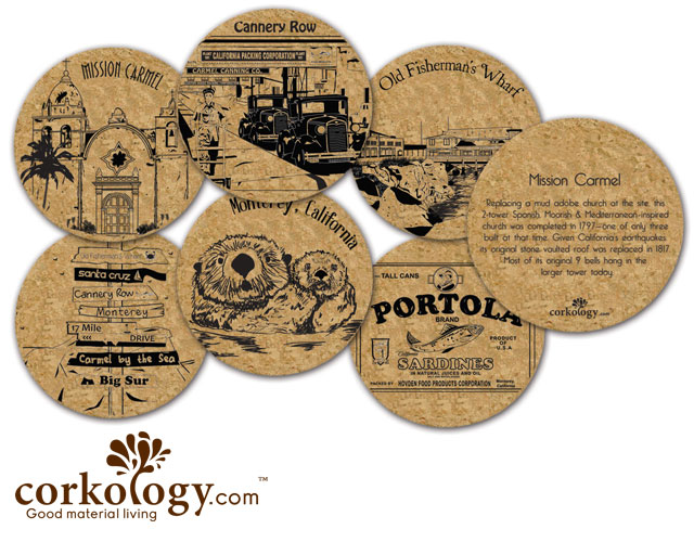 Monterey Cork Coaster Set - Free Shipping!