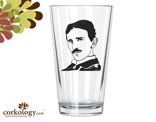 Nikola Telsa Pint Glass