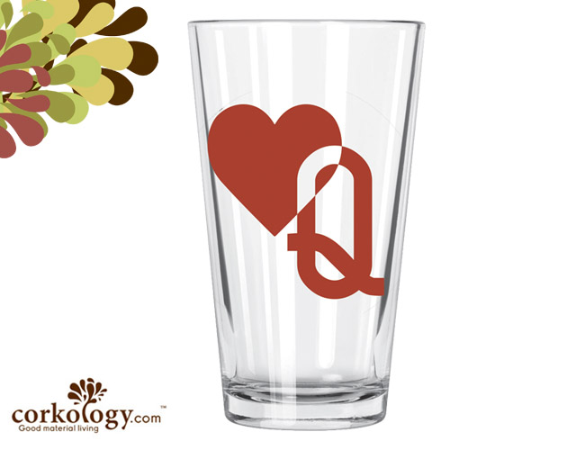 Queen of Hearts Pint Glass