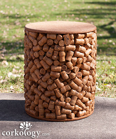 The 1400 Champagne Cork Stopper Patio Stool™