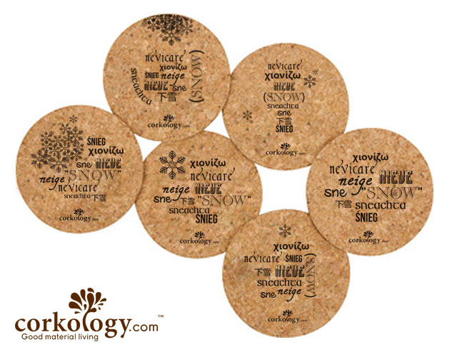 Snowflakes Cork Coaster Sets -Free Shipping!