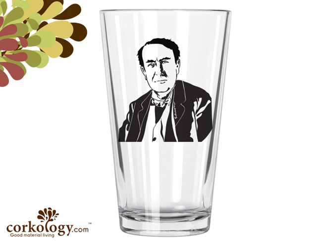 Thomas Edison Pint Glass