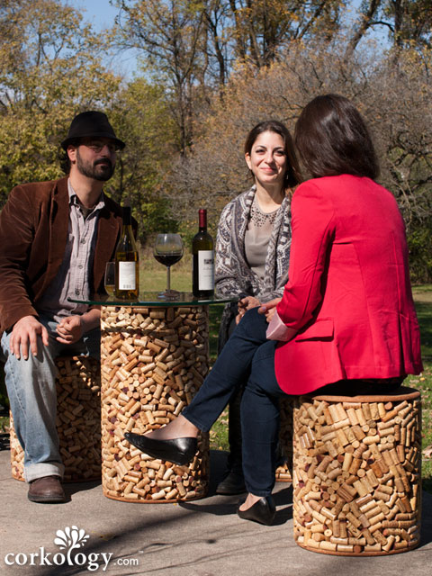 The 2300 Cork Stopper Patio Stool�