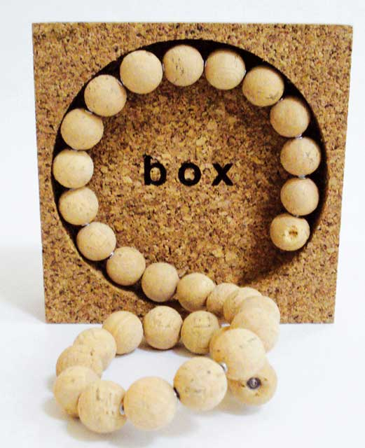 Cork Ball Necklace w/ Box