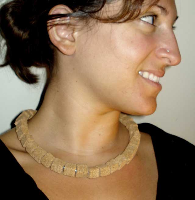 Cork Cube Necklace