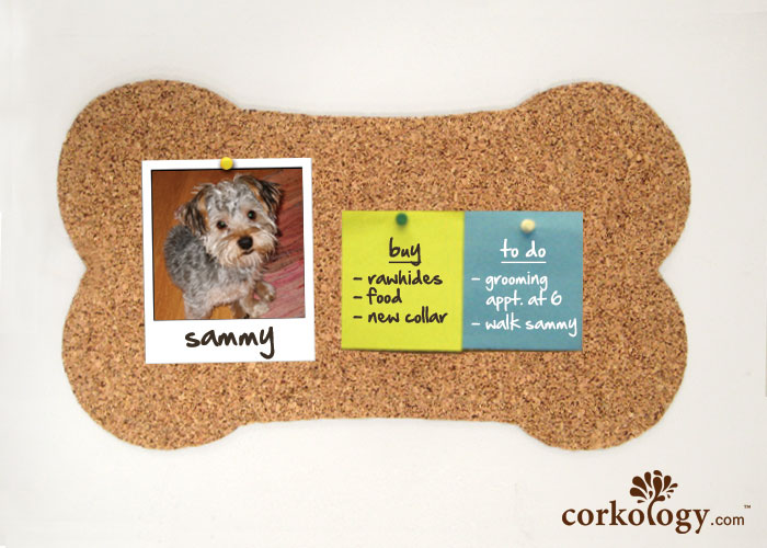 "16"" Dog bone Cork Bulletin Board"