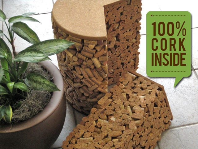 The 1900 Champagne Cork Stopper Patio Table™