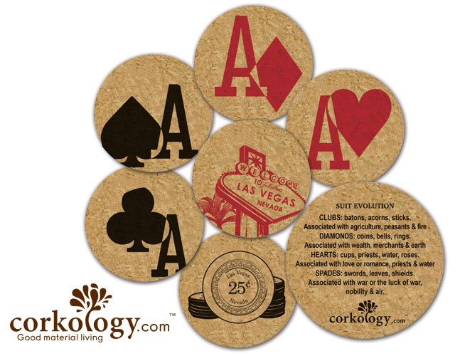 Welcome to Vegas Cork Coaster Set - Free Shipping!